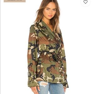 959bf149627fa LPA Jackets & Coats | Trench Coat In Camo Xxs | Poshmark